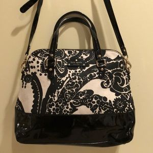 Like new. Kate Spade canvas and patent tote/bag